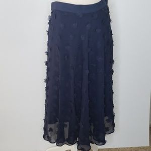 Rachel Roy Seaside navy skirt with flowers size 14